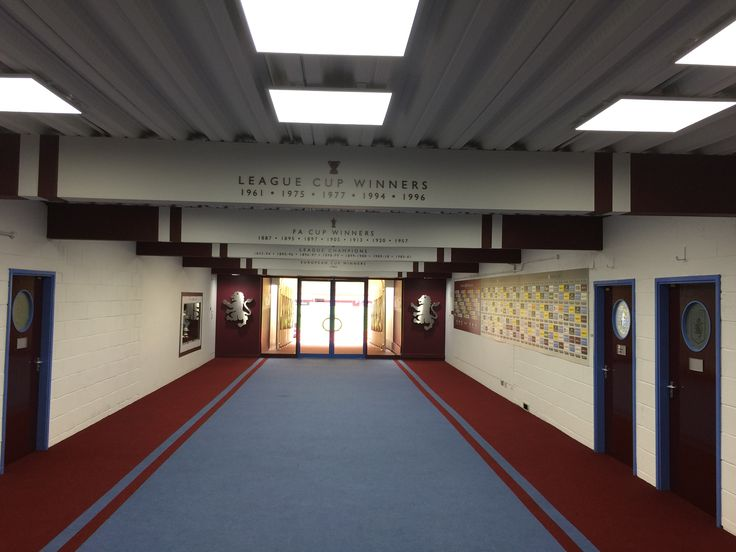 Tunnel leading the the pitch at Villa Park.