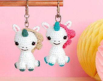 Ice cream keychain Crochet keychain Amigurumi keychain