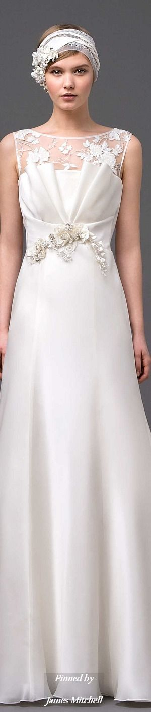 Alberta Ferretti Bridal Collection  Spring 2015       jaglady For Authentic Vintage Wedding Jewelry go to: https://www.etsy.com/shop/ButterflyEffectInc