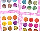 """SALE OFF 50% 1"""" Circles Editable JPG Damask 06 Printable Bottle caps Hair bow centers Jewelry Pendant Glass Resin Print Your Own Images. $4.40, via Etsy."""