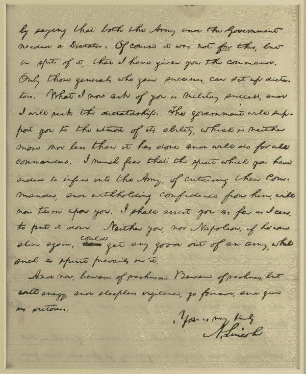 Image 2 of 3, [Letter to Joseph Hooker from Lincoln, January 26,