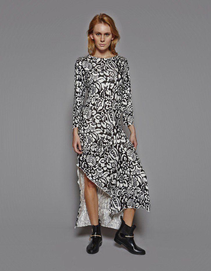 Hibiscus Flower Print Maxi Dress
