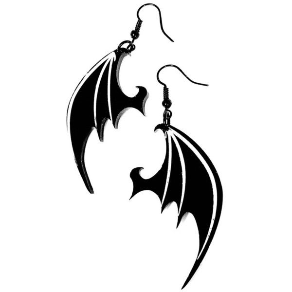 Dragon Wing Gothic Earrings by Curiology ($17) ❤ liked on Polyvore featuring jewelry, earrings, white jewelry, white earrings, nickel free earrings, gothic earrings and goth jewelry