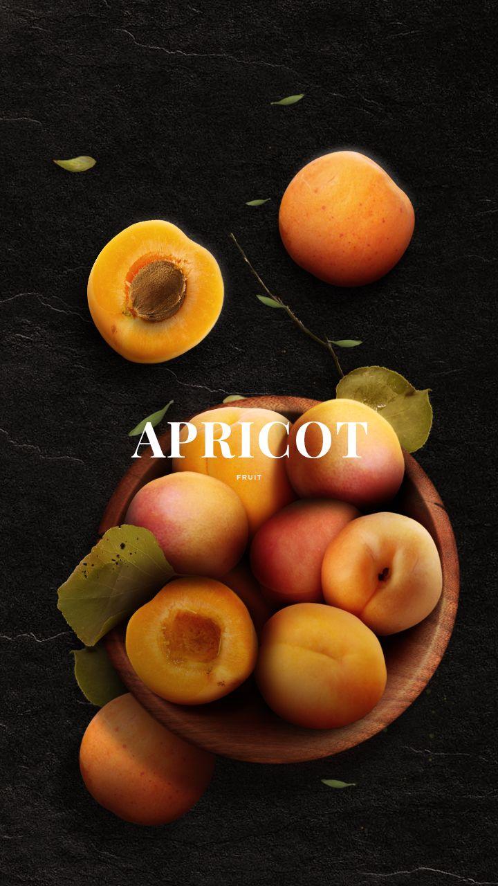 apricot fruit post design
