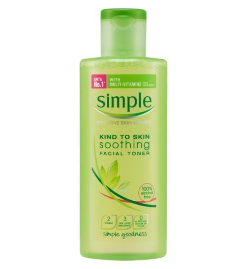 Simple Kind To Skin Soothing Facial Toner 200ml - Boots, £2.99 BOOTS