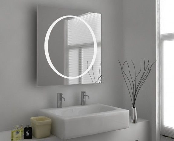 Orb Illuminated Mirror With Shaver Socket Demister