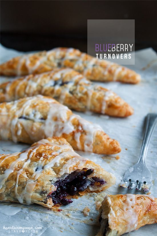 Crispy and delightful blueberry turnovers.