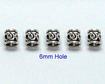 3x5mm hole DREADLOCK BEADSBeard ring Hair by artstudio88 on Etsy