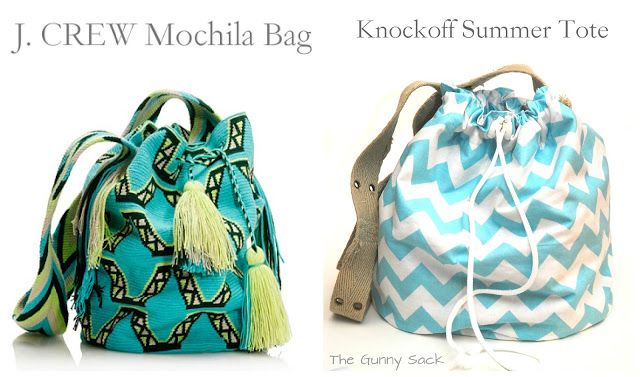 {J.Crew Knockoff} DIY Summer Tote @The Gunny Sack