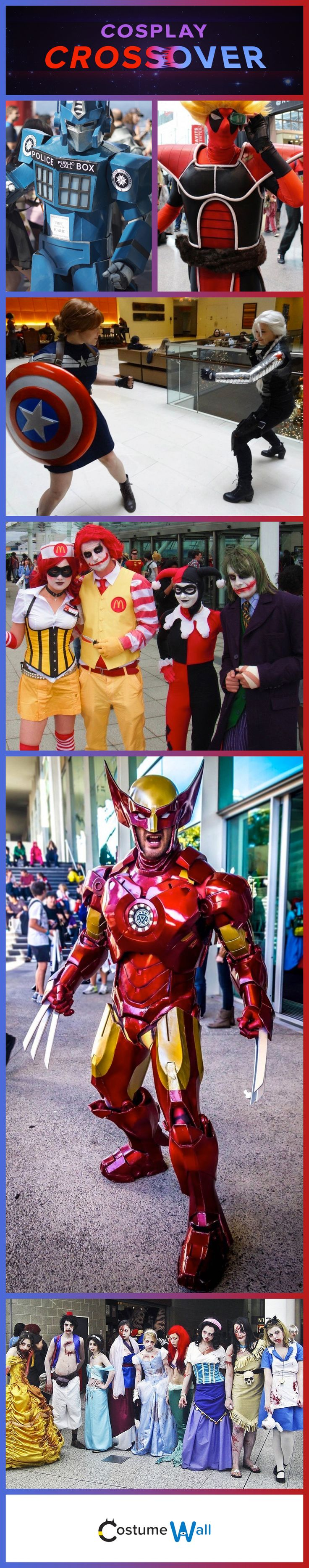 We've found some of the most creative people in cosplay that have put their creativity to work in designing the best costume mashups we have seen.