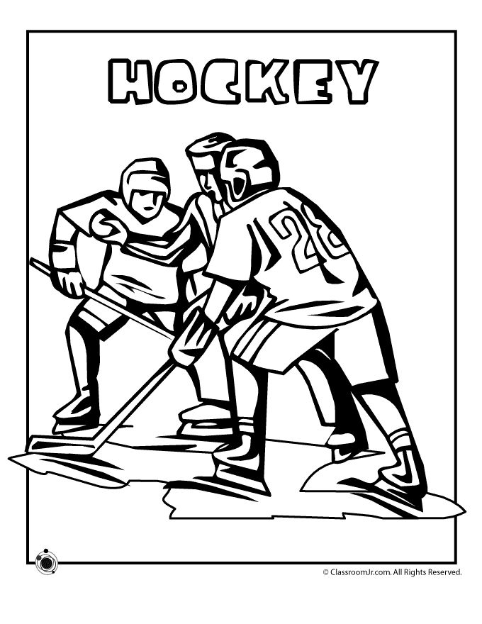 Olympic Coloring Pages Olympic Hockey Coloring Page – Classroom Jr.