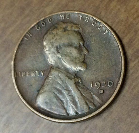 1930 D ERROR Lincoln Wheatback Penny #INVB61   Products
