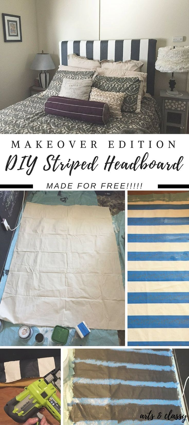 Learn How To Make A Glam Diy Headboard For Free See How I Take My