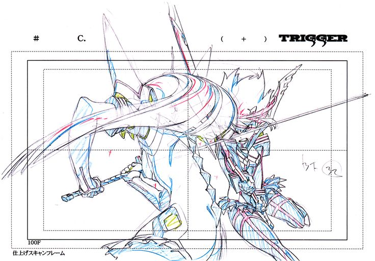 artbooksnat:Kill la Kill (キルラキル)Key frames from the 360-degree fight sequence between Ryuko and Satsuki, at the end of the first opening animation, were featured in theKill la Kill Animation Originals Book Vol. 01 (Amazon US | Trigger). It's kind of amazing to see just how much from each frame never makes it on screen.