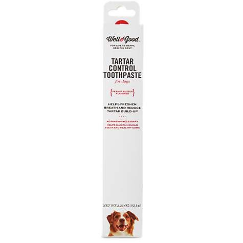 Well & Good Tartar Control Toothpaste for Dogs, Peanut Butter Flavor | Petco