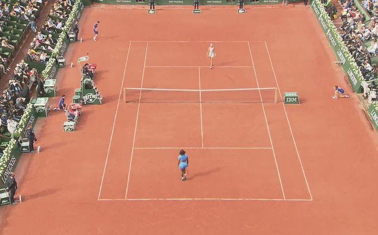 Balle de match de Serena contre Mladenovic