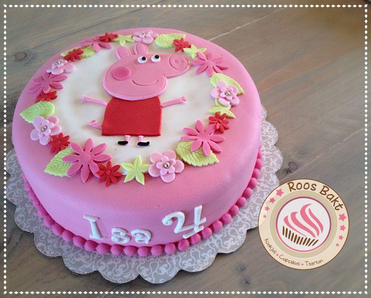 Peppe Pig cake Peppa Big taart