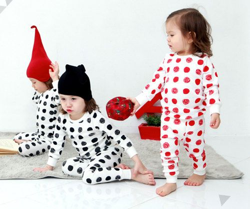 Dot Pajamas for kids by hellodearkids on Etsy