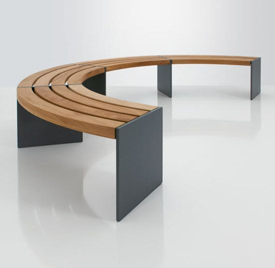 Binga curved bench
