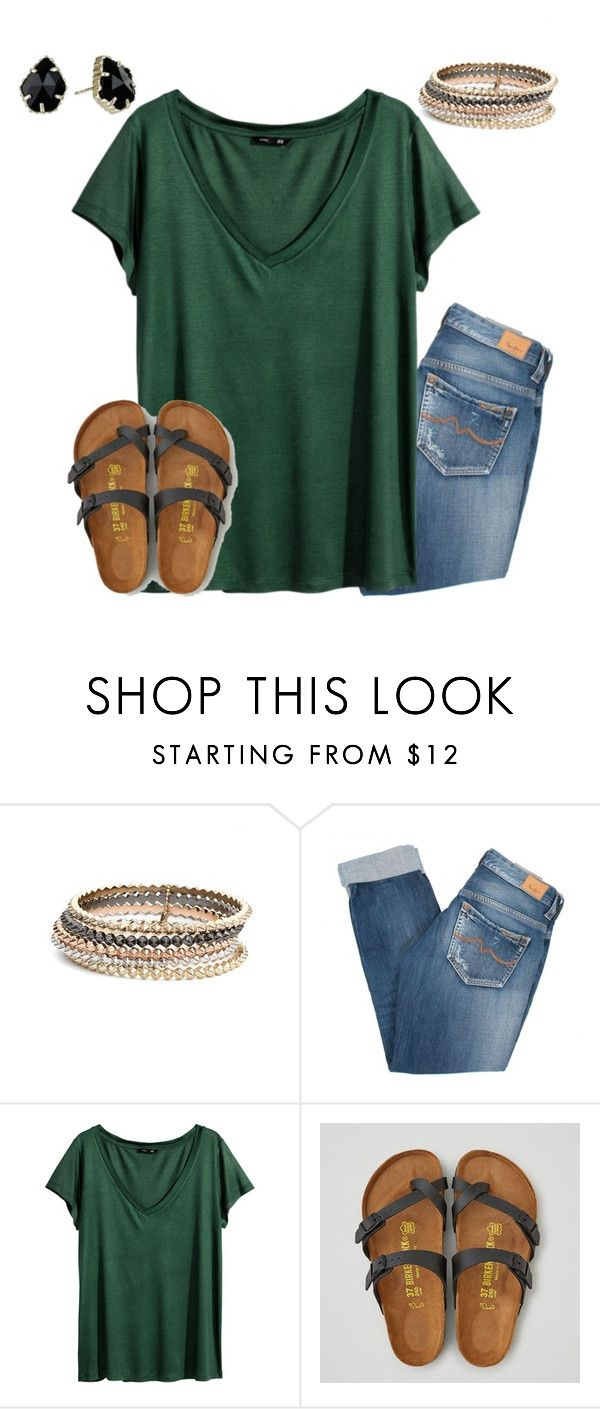 """""""going to high school soccer game in a bit"""" by jazmintorres1 ❤ liked on Polyvore featuring Kendra Scott, Pepe Jeans London, H&M and American Eagle Outfitters"""