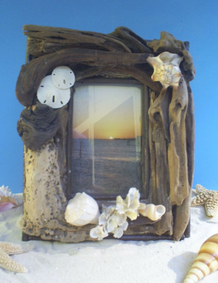 Driftwood Frame Ocean driftwood Picture Frame by BytheSeawithPolly, $75.00