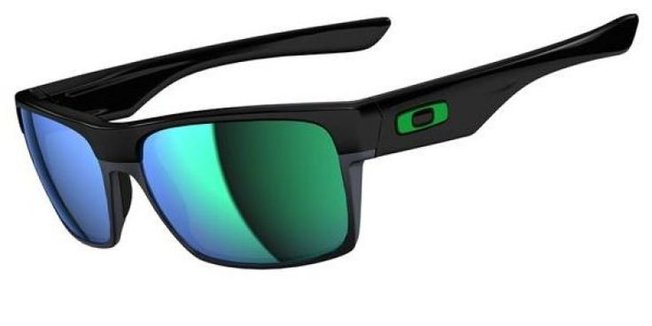 Oakley Sunglasses Twoface Polished Black/Jade Iridium is designed for men and the frame is black. #theopticshop #Oakley #TwoFace #sunglasses