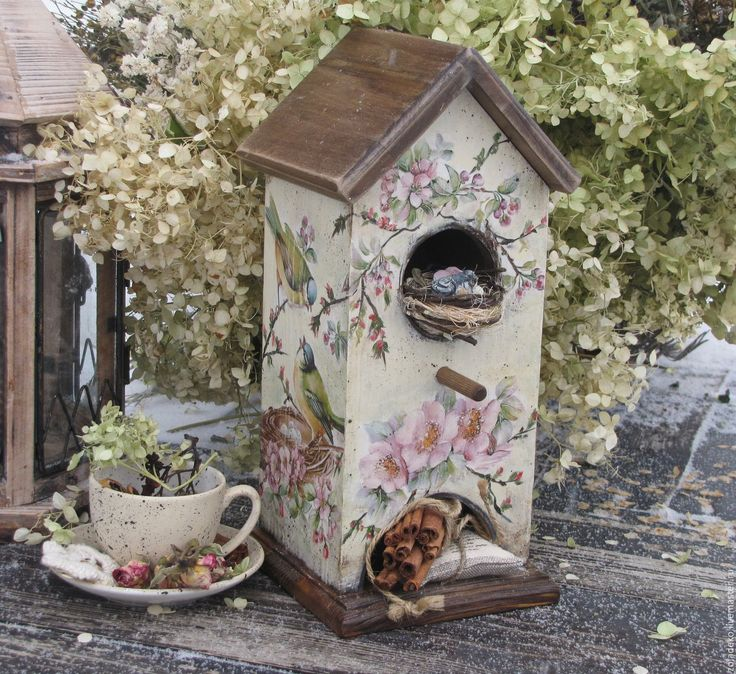 """Купить Чайный домик из весенней коллекции """"Пробуждение"""" - бежевый, розовый, коричневый, домик, домик для чая"""