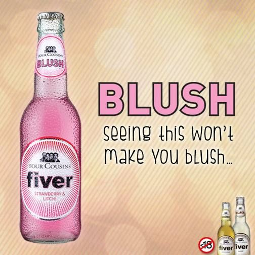 What would you expect from a drink called BLUSH, cousins? #fcfiver #4cousins