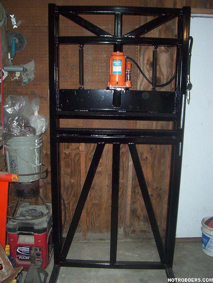 64 best shop press iron worker images on pinterest for Costruire pressa idraulica