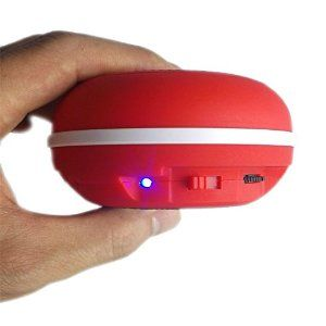 Faster Portable Wireless Waterproof Bluetooth Speakers with Built in Speakerphone, Rechargeable Red