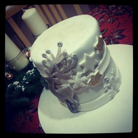Cake#christmas#deer#stars#snowflake#chocolate#vanilla#Czech#miss.enemy