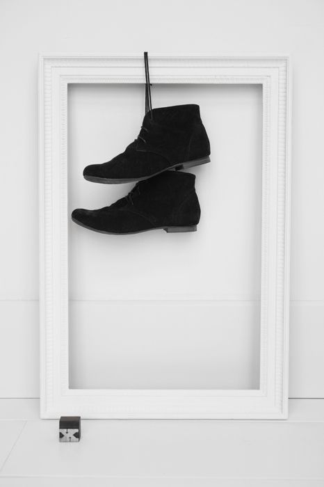 Would be cute with a smaller frame to show baby's first shoes.