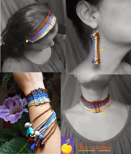 #Macrame #aretes #pulsera #Collar #balaca #acesorios