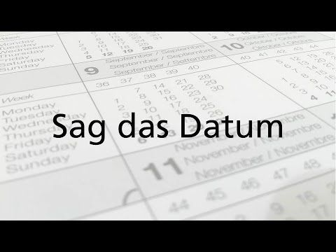 German Numbers Say the date. How to say the date in