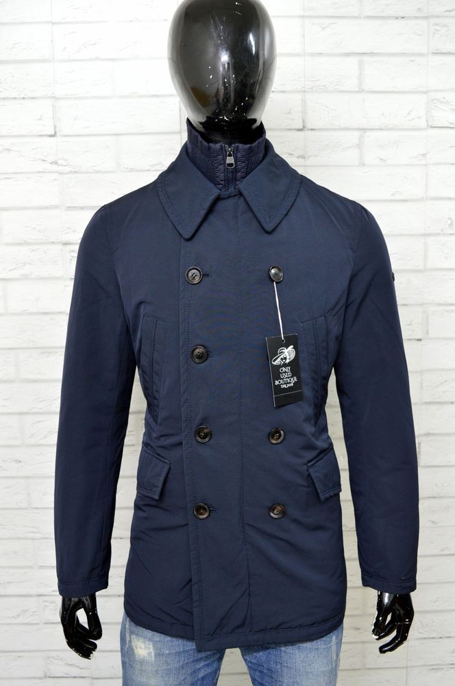 Henry 48 Cotton's Blu Giubbino Giubbotto Taglia Jacket Uomo Giacca qxIdqv