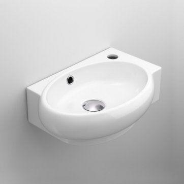 Naro Wall Hung Cloakroom Basin - Left Hand [PT-CA1009L] - £69.99 : Platinum Taps & Bathrooms