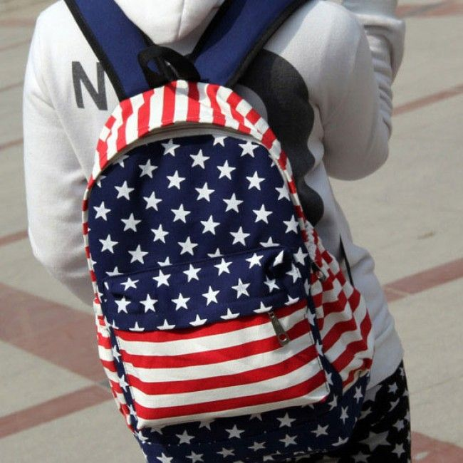 unique american flag print canvas backpack for only 2299 cheap fashion backpacks fashion bags