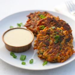 Sweet Potato & Bacon Latkes.