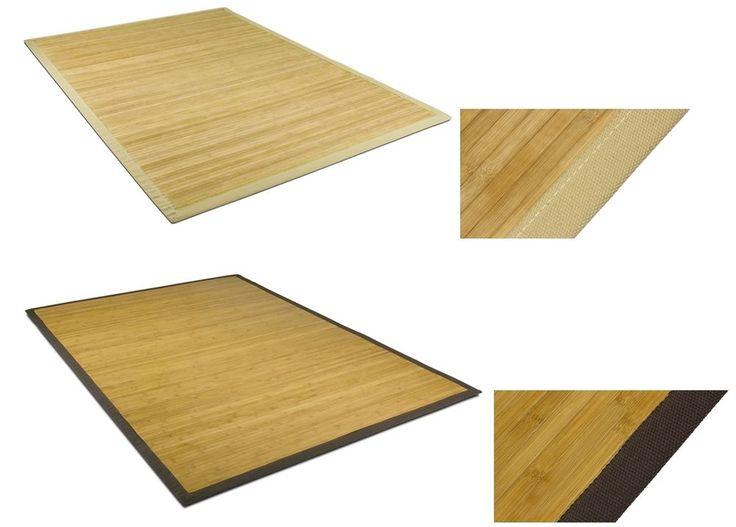 Bambus Teppich Läufer Vorleger Matte Wohnzimmer Küchen Bad Holz Natur ohne Fäden  | eBay