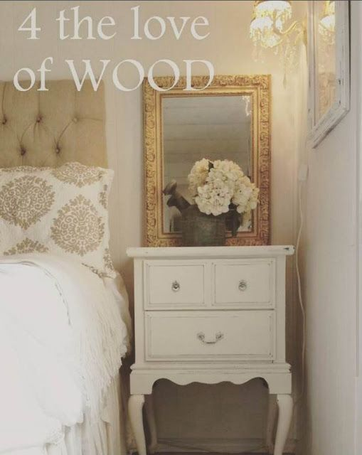 4 the love of wood: RECYCLED DINING CHAIR LEGS - shabby chic bedside tables