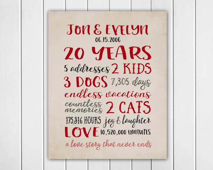 20th Wedding Anniversary Gift For Wife: Best 25+ 20 Year Anniversary Ideas On Pinterest