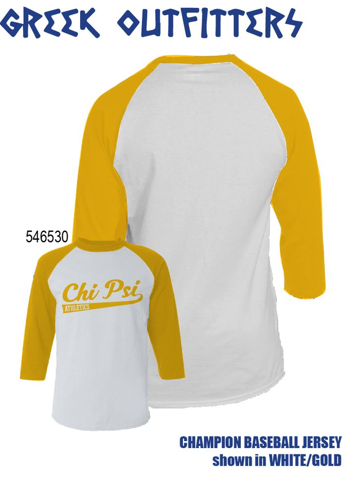 Greek Outfitters Chi Psi Champion Baseball Jersey #grafcow
