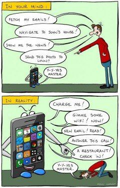Oh, how technology has changed our lives....