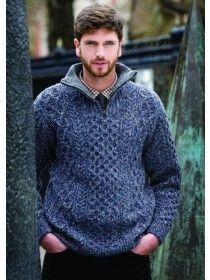 Wool Cashmere Half Zip Sweater A664