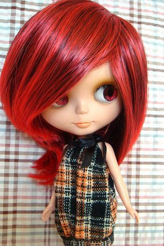 Red Highlighted Mid Length Hair Wig $16 6 #americangirl #wig
