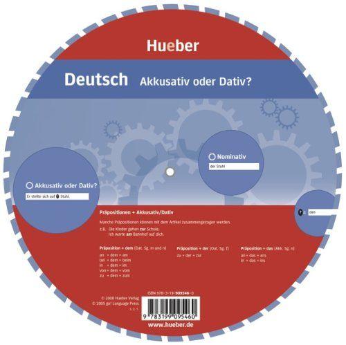 Deutsch - Akkusativ oder Dativ?: Wheel - Deutsch - Akkusativ oder Dativ? von Hueber Verlag GmbH & Co. KG http://www.amazon.de/dp/3199095461/ref=cm_sw_r_pi_dp_CsF4ub1SJ5K5B