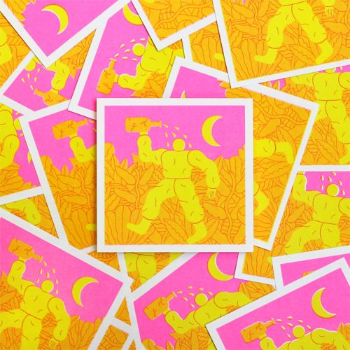 dominickesterton:  Limited edition risograph beer labels for Workhorse Press x Beer Times at O Street.