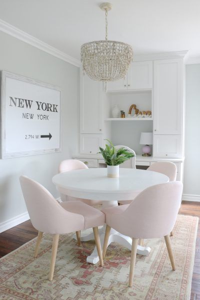 Strange Modern Pink Chairs Home Decor In 2019 Pink Dining Rooms Home Interior And Landscaping Ologienasavecom