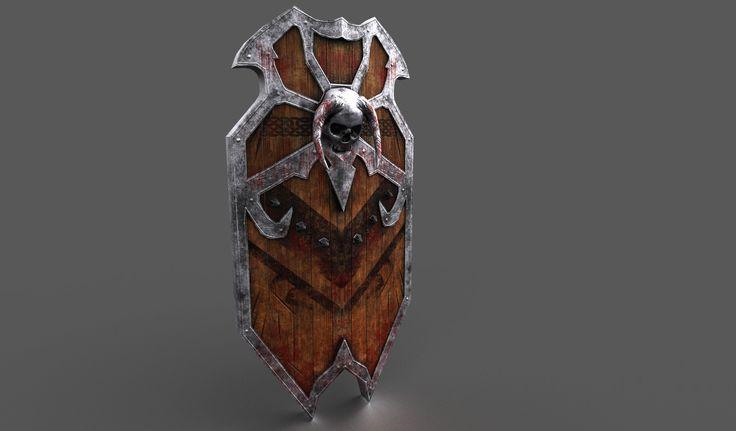 Shield, Vitaly Volokitin on ArtStation at https://www.artstation.com/artwork/3eOPB