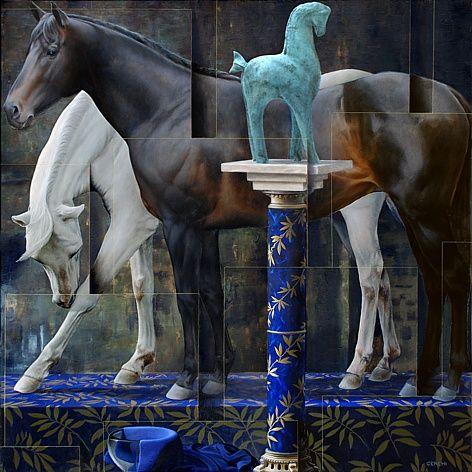 Sergio Cerchi - Totem, Olio su tela